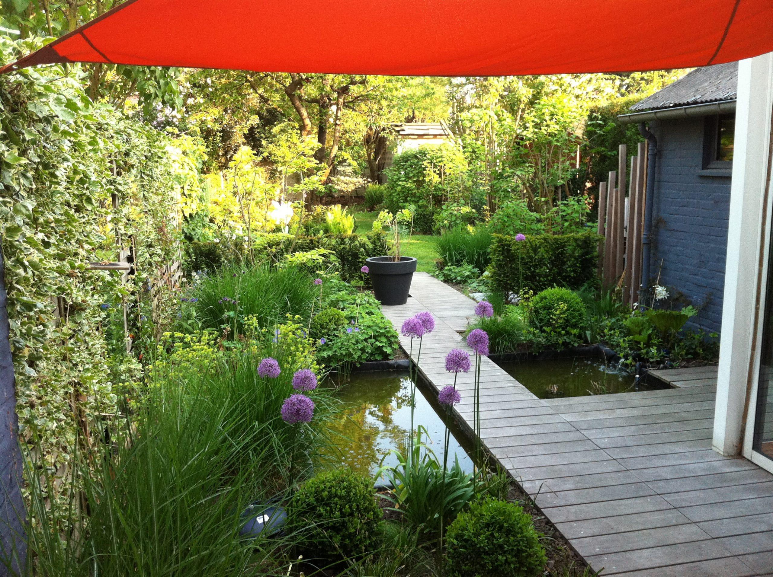 Terrasse bois et jardin à Lambersart (59  Nord)  Home Extérieur