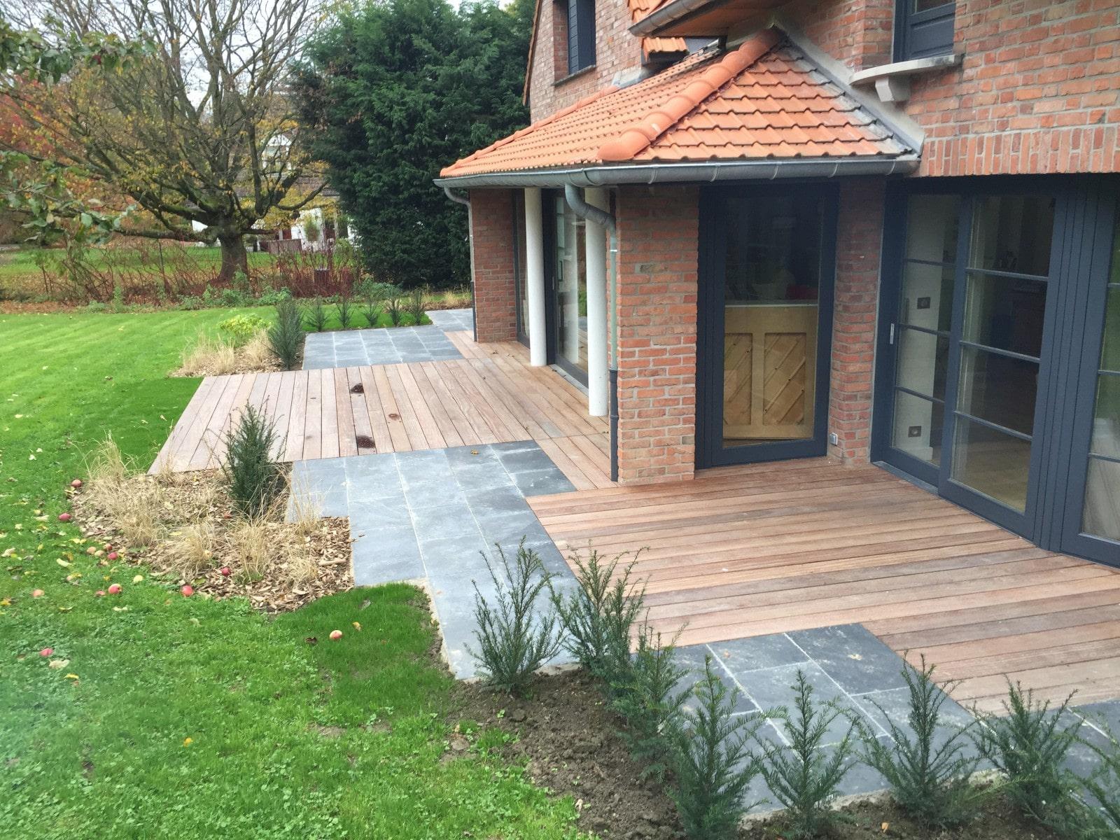 terrasse ardoise bois mouvaux- architecte paysagiste (59 - nord)