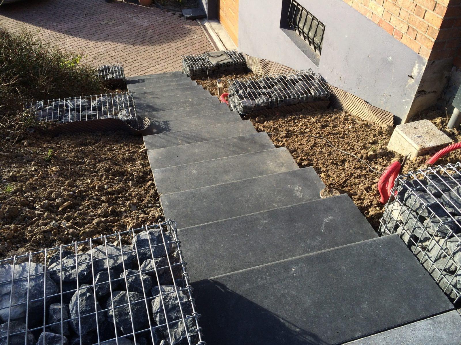 escalier ext rieur et terrasse fromelle architecte paysagiste 59 nord home ext rieur. Black Bedroom Furniture Sets. Home Design Ideas