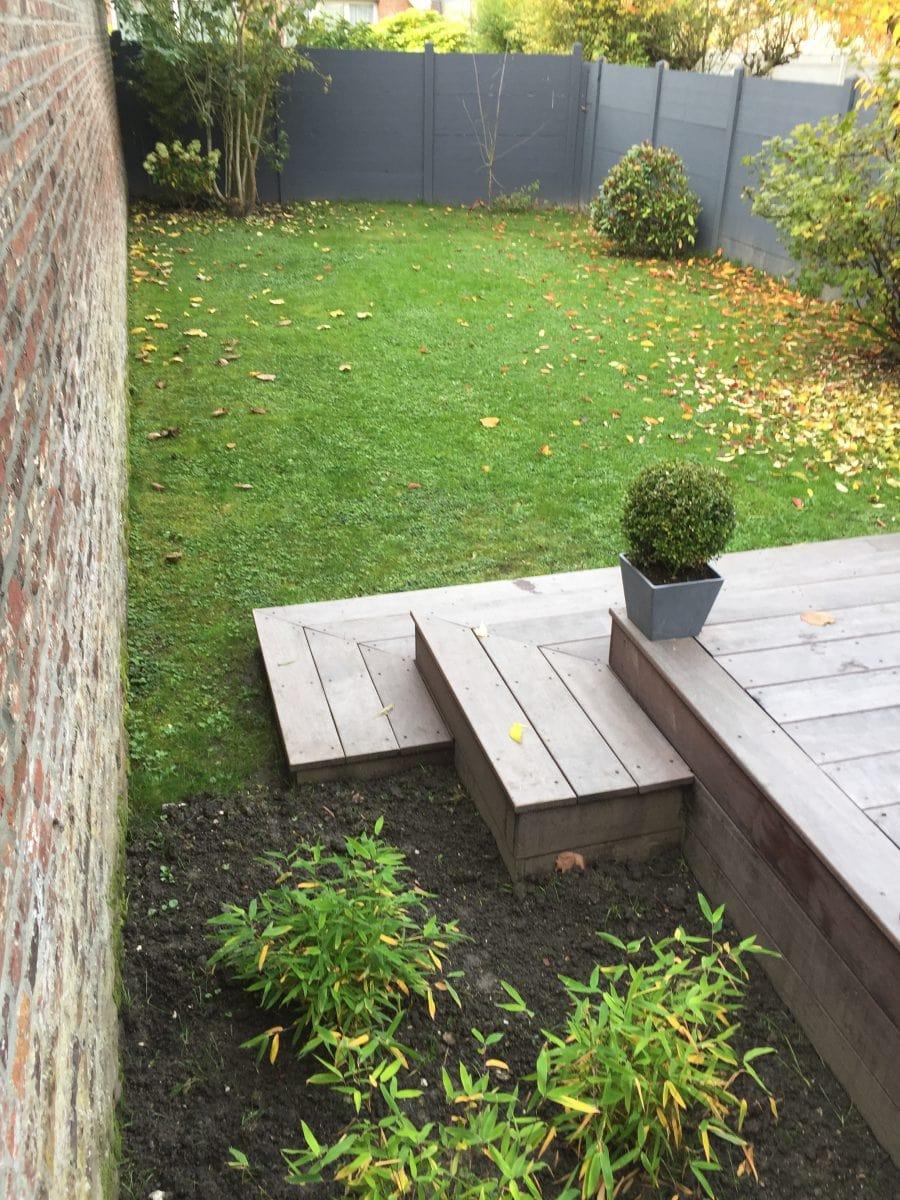 Am nagement d 39 une terrasse en bois lambersart hauts de for Amenagement jardin finistere nord