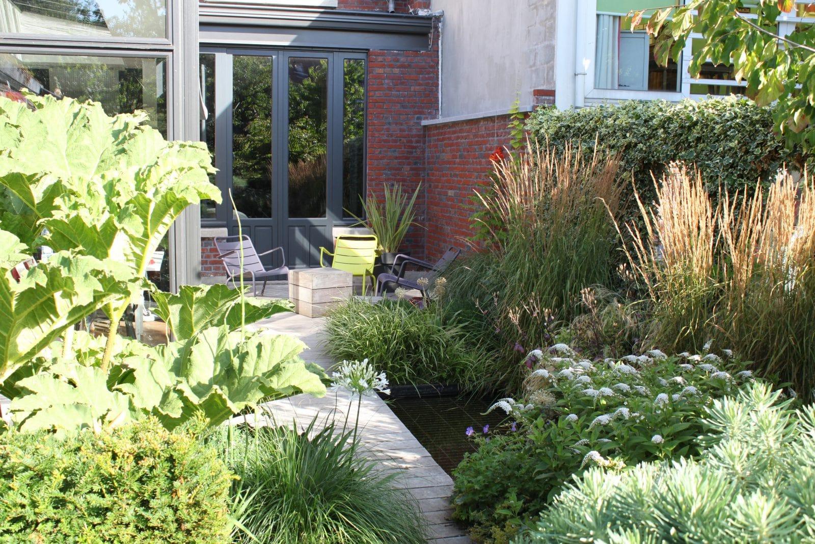Terrasse bois et jardin lambersart 59 nord home for Jardin oriente nord