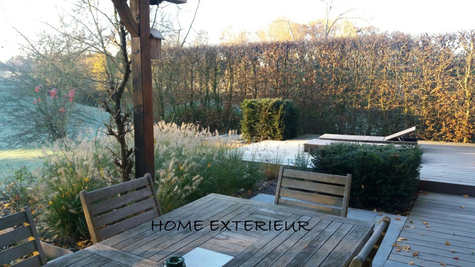 Am nagement d 39 une terrasse suspendue en bois exotique for Amenagement exterieur belgique